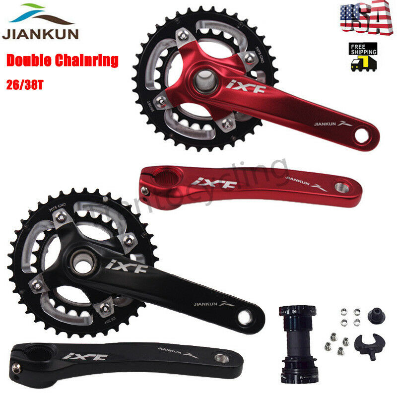 MTB Bicycle 11 Speed Crankset Double Chainset 26 38T Aluminum Alloy 170mm Crank
