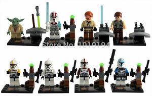 Star Wars Minifigures 9 Mini Figs Darth Vader Clone Troopers Yoda Fits Lego