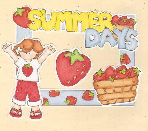 FRAME UPS DIE CUTS  MY MIND/'S EYE SUMMER DAYS KIDS STRAWBERRIES