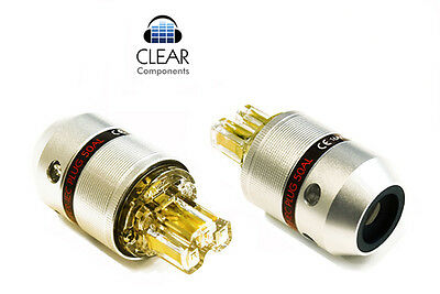 Alloy Cold Device Plug Socket Iec Plug-Socket-Gold-Gold Plated-Audio-Hi-Fi High