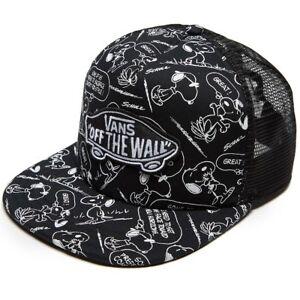 1ee2a725b089e3 VANS OFF THE WALL Snapback Cap PEANUTS Snoopy Skate Adult Trucker ...