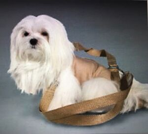 Khaki Beige Cotton Pet Small Dog Carrier Harness Sling Puppy Purse S