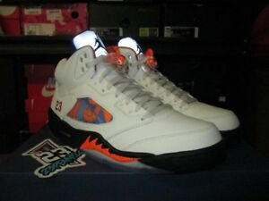 9ac98ccaa1c8 NEW AIR JORDAN 5 RETRO INTERNATIONAL FLIGHT SAIL ORANGE PEEL 136027 ...