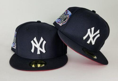 New Era MLB Navy New York Yankee 59Fifty Subway Series Red Bottom Fitted hat