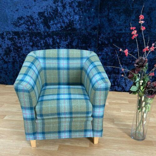 York Tub Chair, Skye Wool Plaid, RRP £547