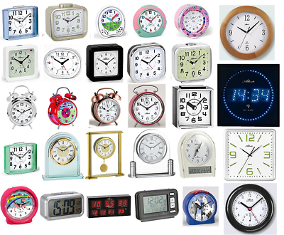 30 Stk. Atlanta Marken Wecker Uhren Stiluhren Wanduhren Restposten Posten Retour