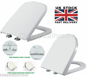 square toilet seat uk. Image is loading Luxury Soft Close Quick Release D Shape Square  Toilet Seat Top