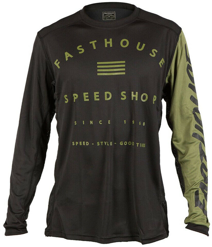 Fasthouse Fastline Speed negozio Da uomo MTB JerseyOLIVE