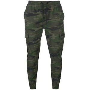 No-Fear-Camouflage-Cuffed-Chino-Trousers-Mens-Green-Skate-Clothing-Pants-Bottoms