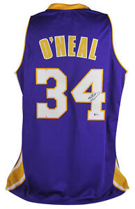 18dcbb678 Lakers Shaquille O Neal Authentic Signed Purple Jersey Autographed ...