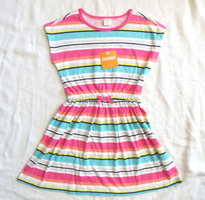 Gymboree-Striped-Multi-Color-Summer-Dress-Pink-White-Blue-Sz-5-6-S-NEW-w-Tag