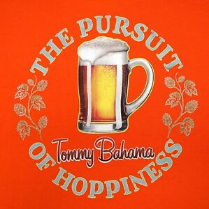 NWT  49 Tommy Bahama Pursuit of Hoppiness SS Orange T Shirt Mens S M ... a78b470cd