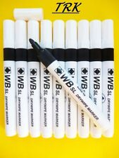 10 X New Value Dry Wipe Black Bullet Tip White Board Marker Pens Drywipe Markers