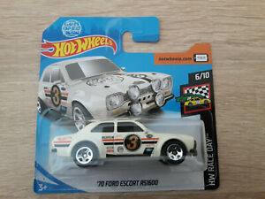 2019-Hot-Wheels-039-70-Ford-Escort-RS1600-1-64-1-64-carrera-de-hardware-dia-6-10-Blanco