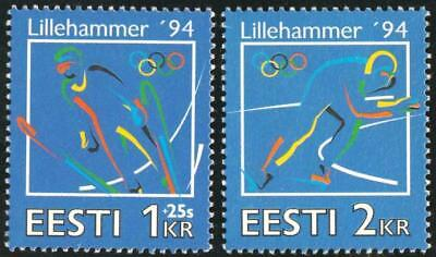 Other European Stamps Dep2/s Estland Nº 234/35 1994 Olympischen Spiele Winter Lillehammer Sport Luxus Europe