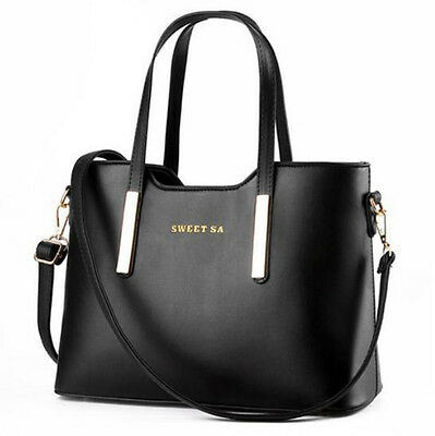 Black Women Handbag Shoulder Bags Tote Satchel Hobo Leather Messenger Bag
