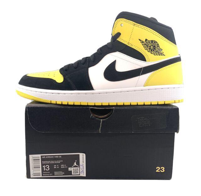 yellow and black jordan 1