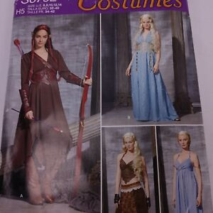 Details about Simplicity Costume S0792 Fantasy Medieval Cosplay 14-22 6-14  Uncut FF