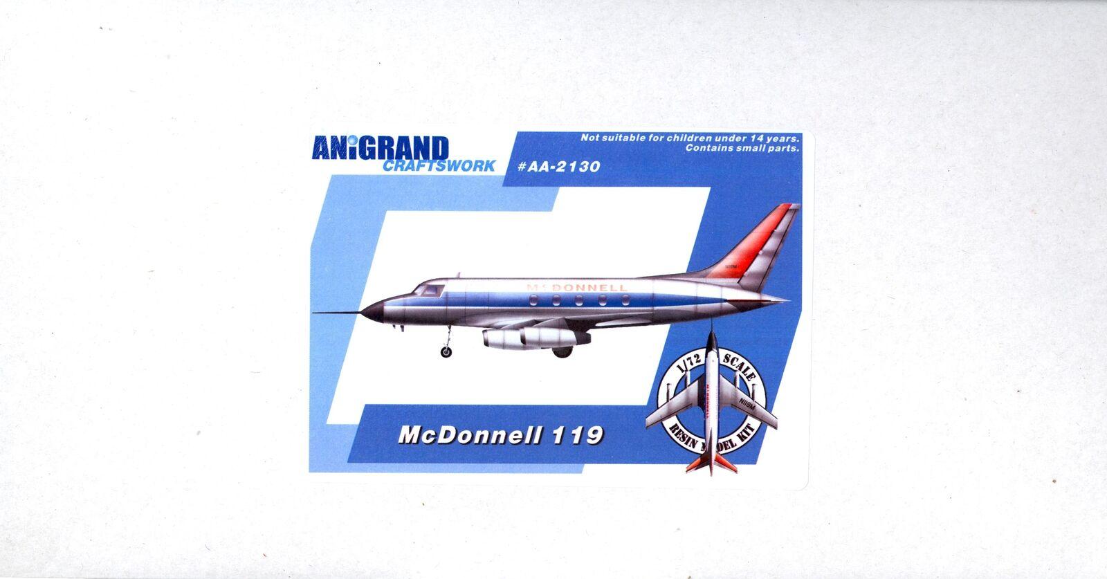 Anigrand Models 1 72 MCDONNELL 119 Business Jet