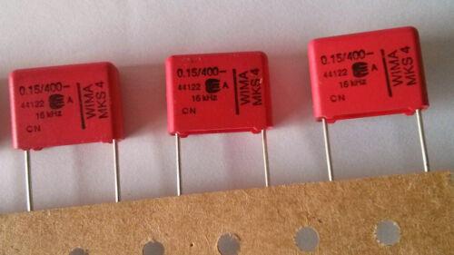 10 St - 400V RM 15 10/% MKS4 0,15 µF 150nF