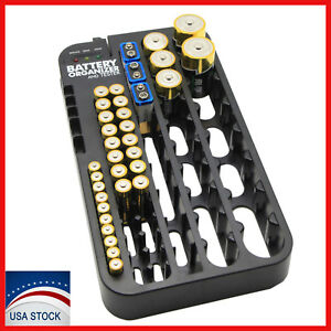 Image Is Loading AAA AA Battery Storage Case Organizer With Removable