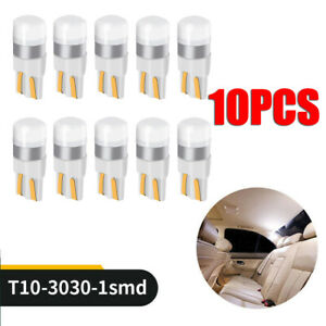10x-T10-LED-W5W-194-168-1SMD-Car-Wedge-Tail-Parking-Plate-Light-Bulb-12V-WHITE