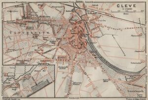 Town City Stadtplan Northrhine-westfalia 1906 Map To Rank First Among Similar Products cleves, Kleef, Kleff Kleve
