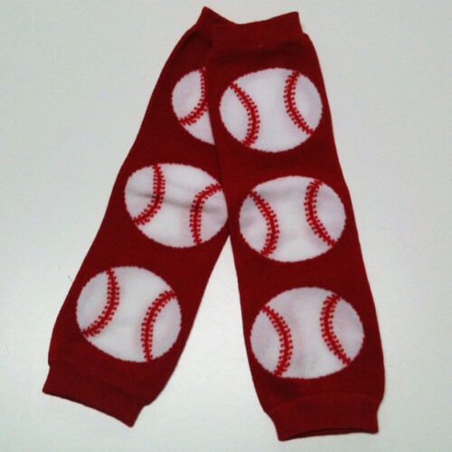 Red Baseball for Boys or Girls 1 Size Fits All USA SELLER BABY LEG WARMERS