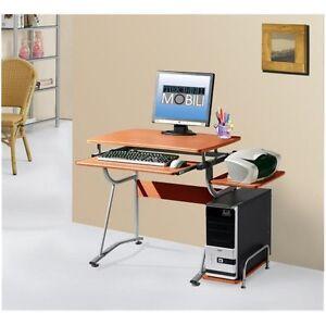 Details about Techni Mobili Compact Computer Desk - Cherry