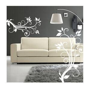 wall stickers fiori bianchi camera soggiorno armadio adesivi murali ...
