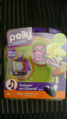 SDCC POLLY POCKET COLLECT A CUTANT TUNEINGUIN AND CLICKERTAIL FIGURES NEW RARE!!