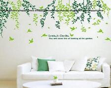I SOGNI DA GIARDINO VERDE SALICE Vine Birds Tree Adesivi Murali ARTE Arredamento Casa Nursery