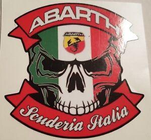 05-SKULL-ABARTH-SCUDERIA-ITALIA-9-5x9-cm-AUFKLEBER-AUTOCOLLANT-STICKER