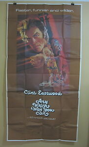 ANY-WHICH-WAY-YOU-CAN-1980-Rare-3-sheet-movie-poster-Clint-Eastwood-classic