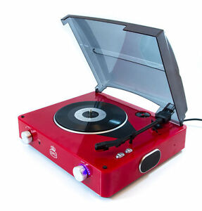 GPO-Stylo-3-speed-Turntable-Vinyl-Record-Player-Red-MASSIVE-CLEARANCE