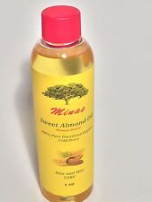 4 OZ ORGANIC SWEET ALMOND OIL  CARRIER COLD PRESSED unrefined PURE oil  massage.