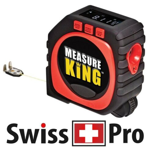 Nouvelle mesure roi Outil 3 en 1 Digital Tape Measure String Sonic roller mode laser