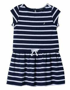 Nautica-Girls-Little-Short-Sleeve-Fashion-Dress-Drop-Navy-5