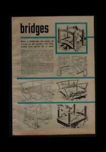 Garden Foot Bridges & Wooden Fences HowTo build PLANS