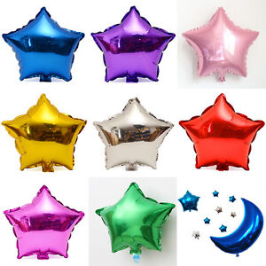 10pcs-5-034-Solid-Colors-Star-Shape-Wedding-Birthday-Party-Helium-Foil-Balloons-New