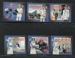 Alderney Sc 164-69 2001 Community Health Services stamp set mint NH