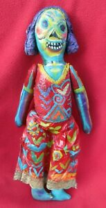 Mexican-Folk-Art-Miguel-Hernandez-Wildly-Colorful-Day-Of-The-Dead-Skeleton-Doll