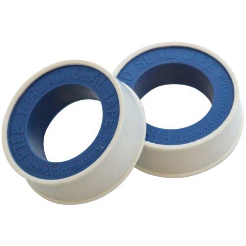 2 x cinta de hilo Ptfe, Uso En El Agua, Aire, Accesorios De Gas -12 Mm x 10 M-Amtech