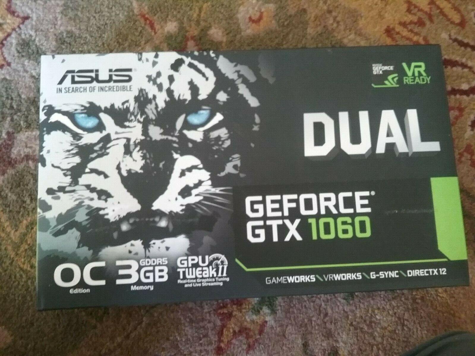 ASUS DUAL Geforce GTX 1060 3gb OC VR ready GDDR5 GPU FREE US shipping