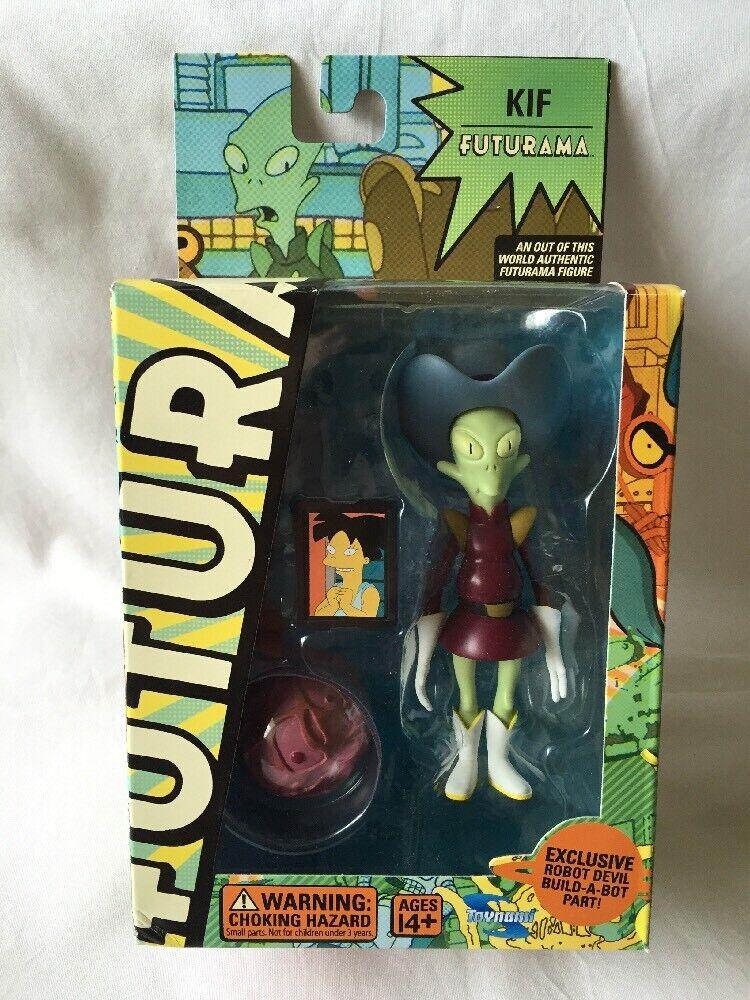 Futurama Kif azione cifra, 2008 Exclusive giocattolo with Robot Devil Buildabot