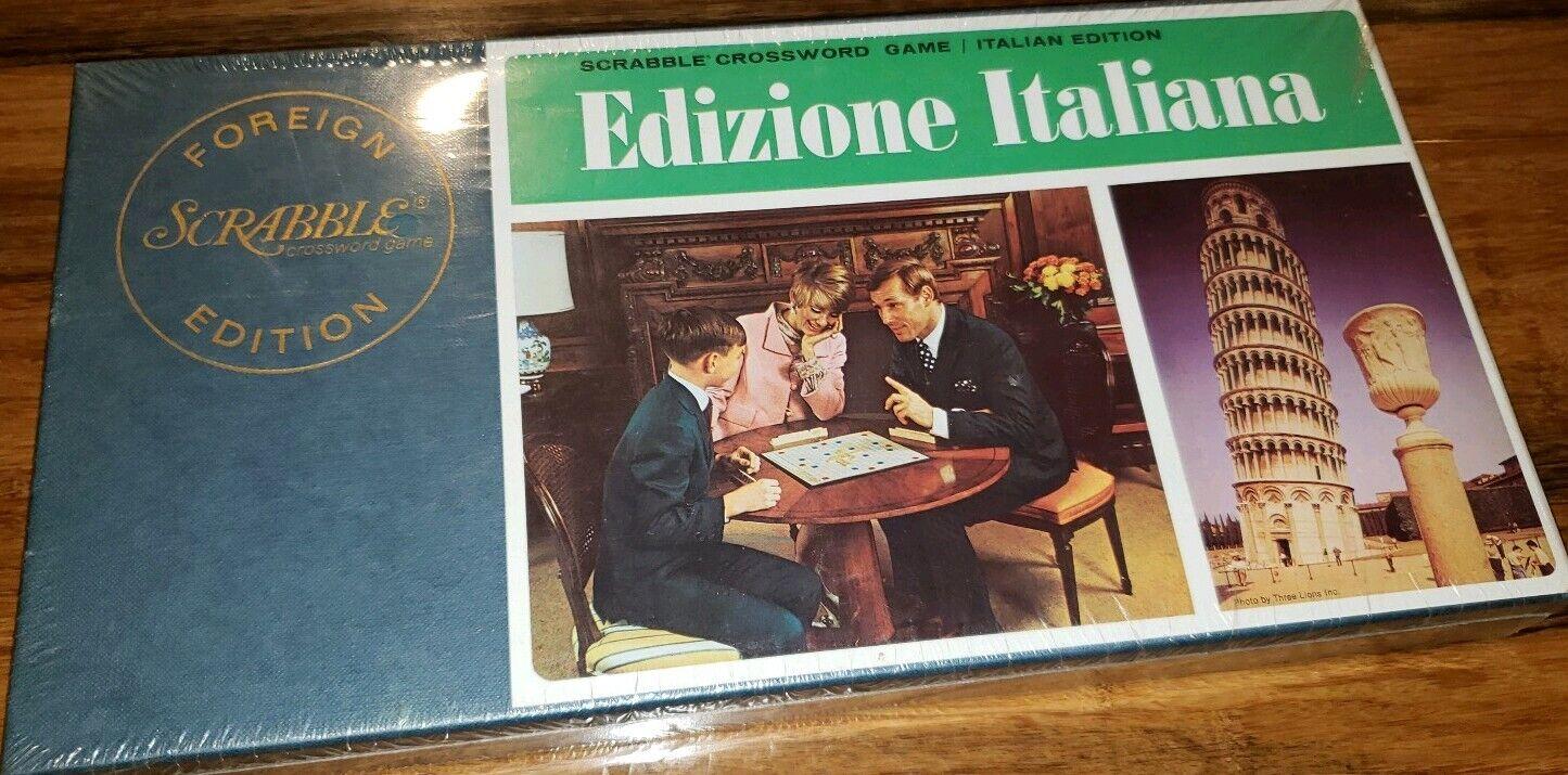 nuovo Sealed 1972 Scrabble Crossword gioco Italian italy  Foreign edizione italiana  una marca di lusso