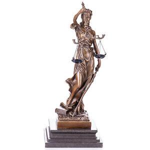 Bronzeskulptur-Justitia-34cm-Goettin-der-Gerechtigkeit-YB257