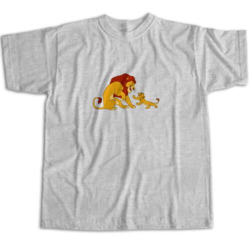 Disney Lion King Simba Mufasa Original Classic Cartoon Movie Unisex Tee T-Shirt
