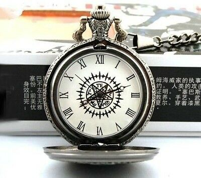 Anime Black Butler Kuroshitsuji Sebastian Ciel Pocket Watch Cosplay+ box cosplay