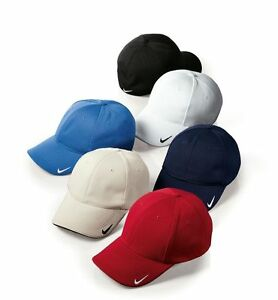 f42e029ef67 Nike Golf MESH Swoosh FLEX FIT SANDWICH FITTED BALL Cap Dri Fit ...